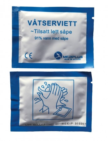MP Våtservietter pk 100 stk.